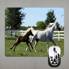 MaiYaCa Top Quality Customized Mare and Fal Love Horse Fans Gift Game Gaming Durable Mouse Mat PC Computer Mouse Pad Laptop Mat