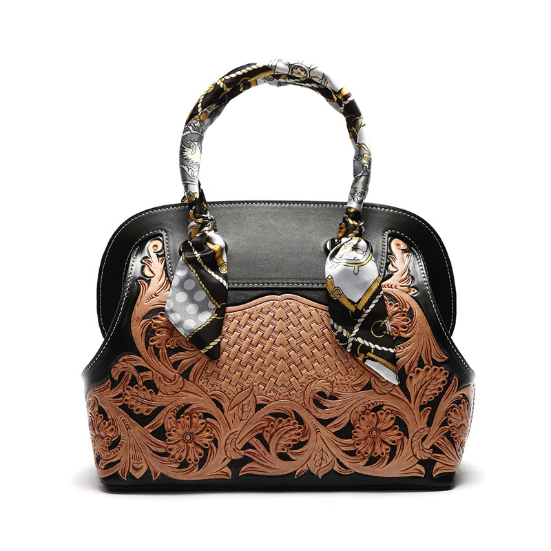 new Italian vegetable tanned cowhide handmade carved women shell leather handbags hand carved italian vegetable tanned cowhide fashion leather bags handbags women