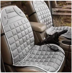 Image 4 - Almohadilla calefactora para asiento de coche, cojín calefactable para asiento de coche de 12V, para invierno
