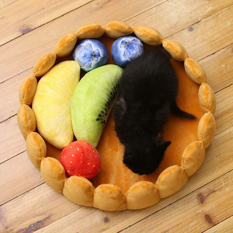 Fashion Pet Dog Fruit Tart Bed Pad Keep Warm Kennel Cat Sleep Mat Nest House Hogard JY09 Houses  Kennels & Pens     - title=