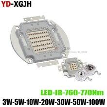 ИК светодиодный чип высокой мощности 760-770Nm 3 Вт 5 Вт 10 Вт 20 Вт 30 Вт 50 Вт 100 Вт, инфракрасный излучатель, лампа, светильник, Bead COB 3 5 10 20 30 50 100 Вт