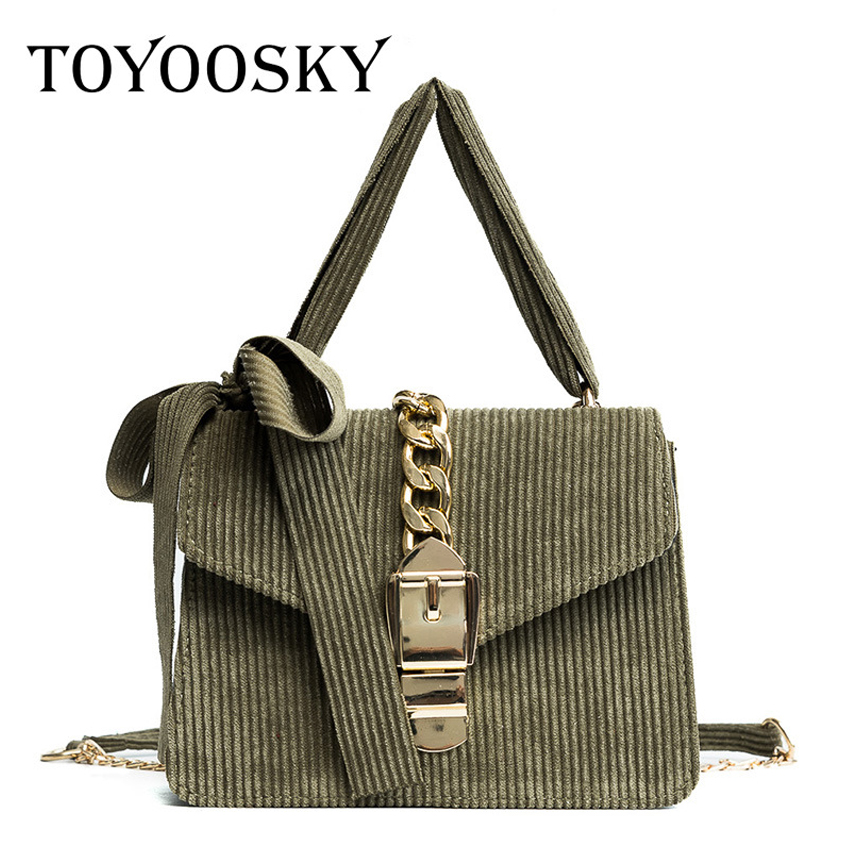 4b27f1d590b1 TOYOOSKY Classic Woman Crossbody Bag Female Chain Flap With Bow Famous Brand  Designer Ladies Shoulder Bag Velour Handbags -in Shoulder Bags from Luggage  ...