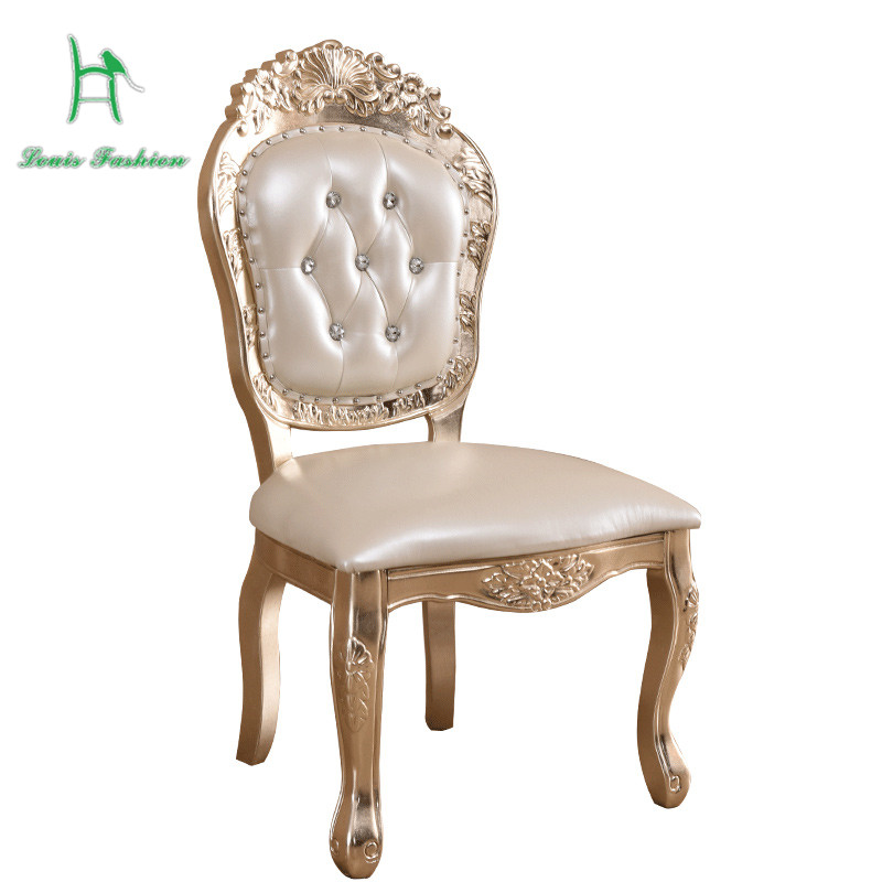 European style luxury leather chair chair wood manufacturing restaurant  reception chair of American furniture small households - Compare Prices On American Antique Furniture Manufacturers- Online