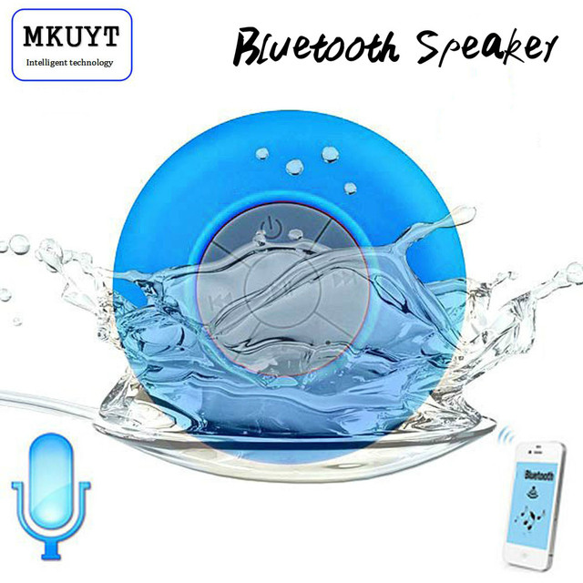 Free Shipping Mini Portable Subwoofer Shower Waterproof Wireless Bluetooth Speaker Car Handsfree Receive Call Music Suction Mic