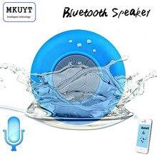 O Envio gratuito de Mini Subwoofer Portátil Chuveiro À Prova D' Água Sem Fio Bluetooth Speaker Car Handsfree Receba Chamada Música Sucção Mic