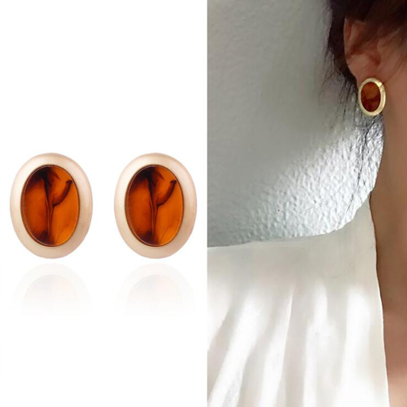 AENSOA Vintage Big Stud Earrings For Women boucle d'oreille Jewelry Classic Wholesale Retro Fashion Earring 2018 Jewelry brincos