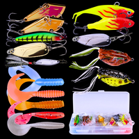 PRO BEROS New Style 60pcs/lot Baits Top New Fishing Lures Soft Spoon Lure Fishing Tackle 15 Colors Frog Baits Hard Baits Set