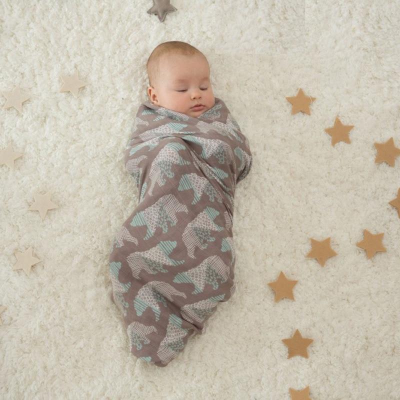 Baby Blanket Muslin Wrap Envelopes For Newborns Crib Sheet Kids Play Mat Stroller Awning Nursing Covers For Feeding Baby <font><b>Swaddle</b></font>