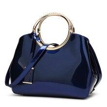 купить 2018 Famous Brands Women Bag High Quality Women Handbags Patent Leather Ladies Cross Body Messenger Shoulder Bags Bolsa Feminina по цене 1624.21 рублей