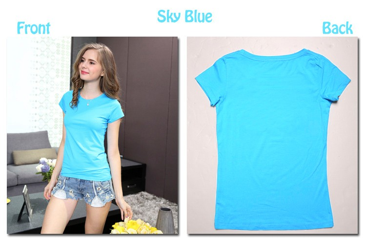 HTB16BoeLXXXXXa1XXXXq6xXFXXX9 - High Quality Plain T Shirt Women Cotton Elastic Basic T-shirts