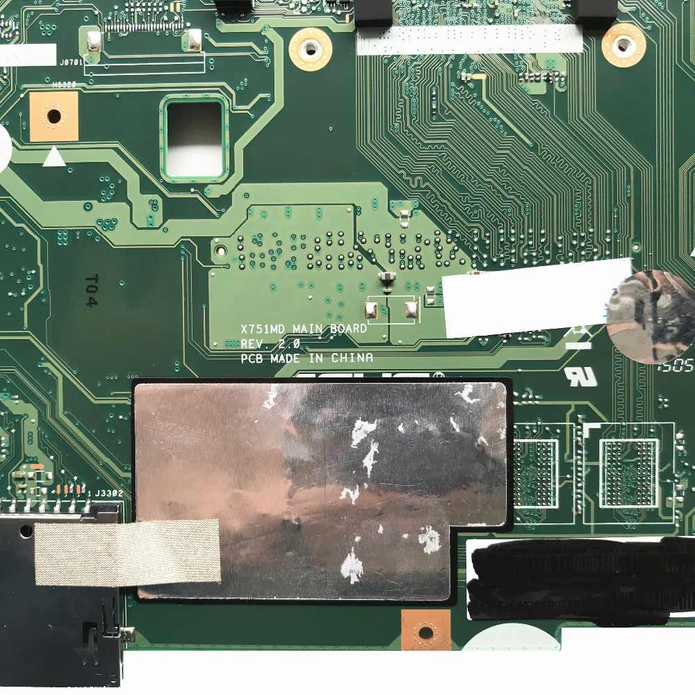 X751MD REV: 2,0 для Asus X751MA ноутбук материнская плата: 90NB0610-R00090 SR1W2 N3530 процессор Бесплатная доставка
