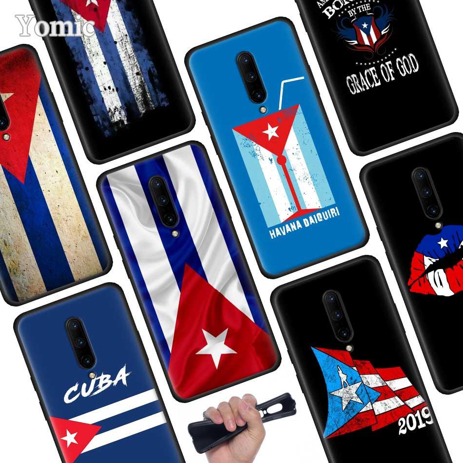 Cuba flag Art Black Soft Case for font b Oneplus b font font b 7 b