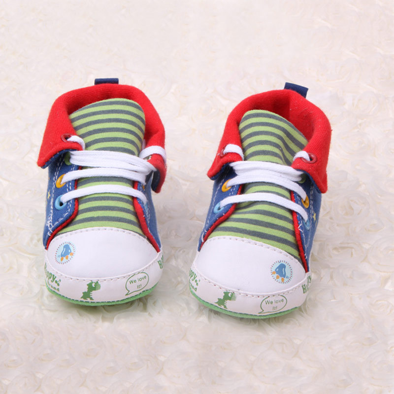 Newborn Baby Cartoon Canvas Shoes Infant Boys Girls Soft-Soled Prewalker Shoes Toddlers First Walkers sapatos infantil CQ119