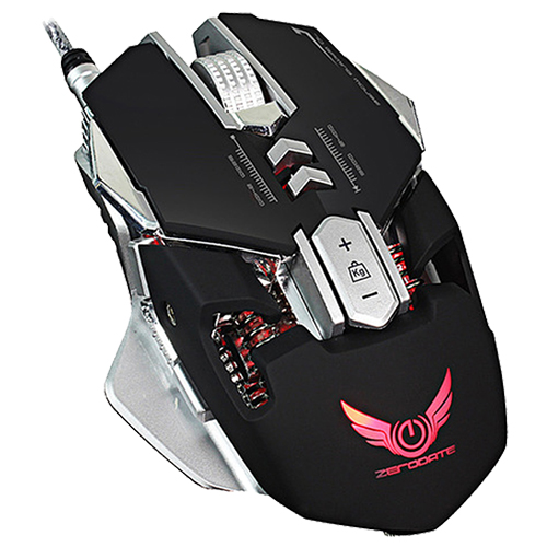 ZERODATE X300 Professional 3200DPI Optical LED light Wired Gaming Mouse,Black