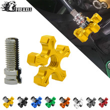 Universal Motorcycle CNC Aluminum brakes Clutch Cable Wire Adjuster For HONDA CBR500R CB500F CB500X CB600F HORNET YAMAHA YZF R1