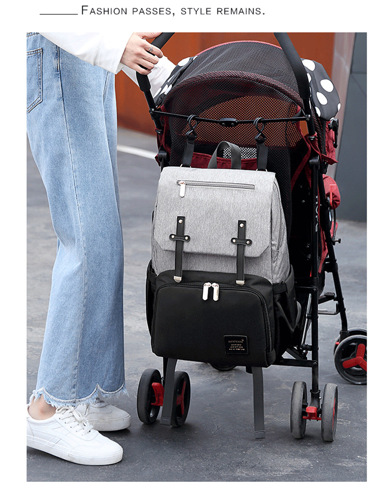 HTB16BpQaPzuK1RjSspeq6ziHVXam New Fashion Women Backpack With USB Mummy Daddy Outdoor Travel Diaper Bags Pure Large Waterproof Nursing Bag Baby Care Nappy Bag