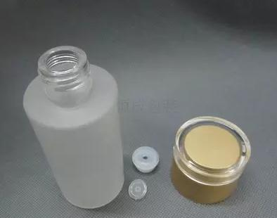 100ml FROSTING golden glass cosmetics packing bottle, suit bottle,screw cover bottle