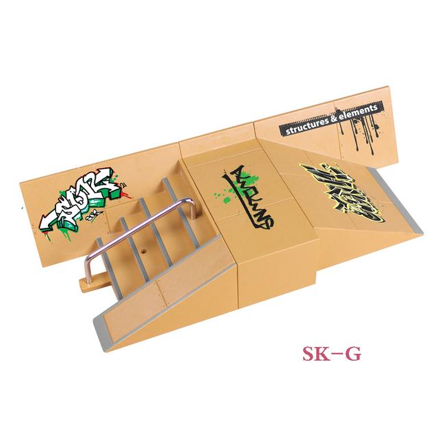 SK-G Pasos y Pendiente Avión Dedo Skate Park Rampa y Partes Diapasón de Tech Deck & Diapasón Etapa Propiedad