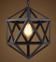 빈티지 레트로 육각 단 철 펜 던 트 조명기구 산업 로프트 미국 교수형 램프 바 주방 룸 빛 홈 데코
