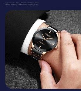 Image 5 - Tevise homem relógio 2020 marca de luxo quartzo relógio de pulso dos homens cerâmica personalidade casual masculino erkek kol saati t845gs