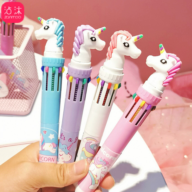 Flight Tracker 1 Piece New Creative Lovely Cute Highlighter Marker Stationary 6 Color Pen Students Ballpen For Children Drop Shipping Gel Pens