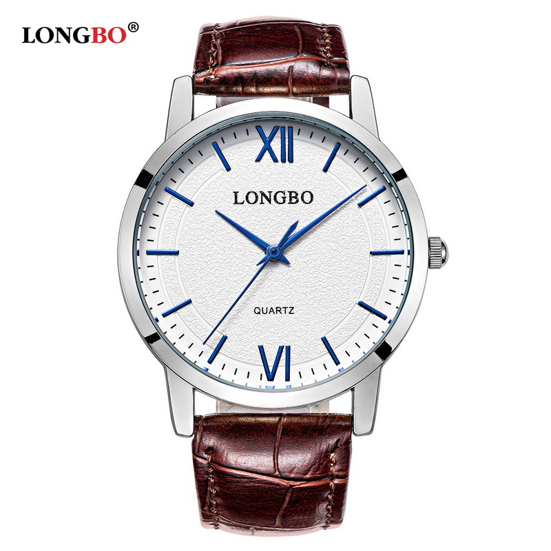 LONGBO Luxury Quartz Watch Casual Fashion Leather Lovers Watches Men Women Couple Watch Sports Analog Wristwatch 80243LONGBO Luxury Quartz Watch Casual Fashion Leather Lovers Watches Men Women Couple Watch Sports Analog Wristwatch 80243