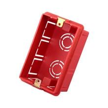 US Standard Wall Mounting Box, Type 118 Internal Cassette, Wiring Box, Black Box For 118mm*72mm Standard Wall Switch