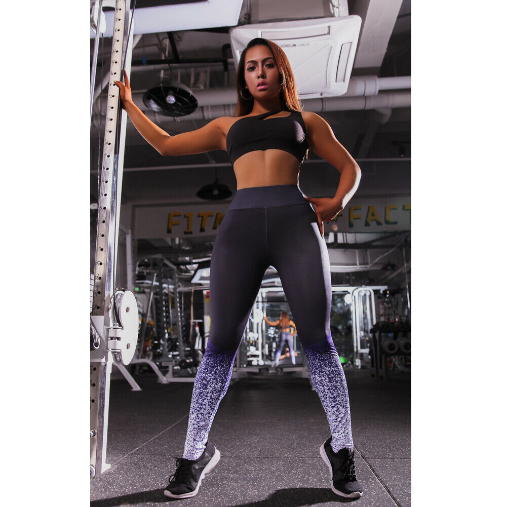 2020 Women High Waist Leggings Gradient  Sky Print Ladies Compression Tights Sports Wear Running Gym Casual Trousers Plus Size