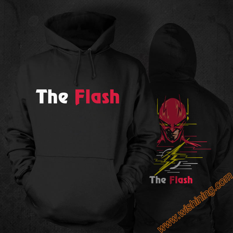 Marvel Superhero The Flash Batman Superman SuperWomen Hoodies Black 3xl Large Size Super Hero Hooded Sweatshirts