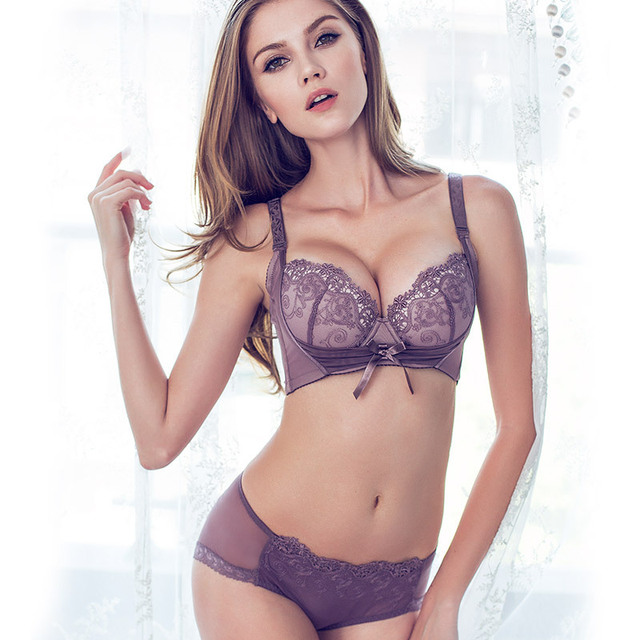 ee2a8684c Sexy Women Bra Brief Sets Lace Embroidery Push Up Bra   Lace Sexy Underwear  Ladies Lingerie