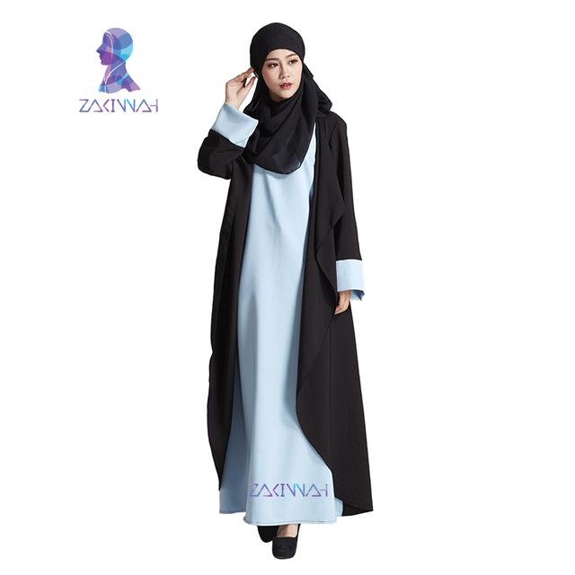 New Fashion Black Women Sleeves Dress Kaftans Plus Size Abaya