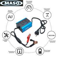 12V 6V 10A Smart Trickle Battery Charger For Car Boat Caravan Motorcycle With LED Display AU Plug