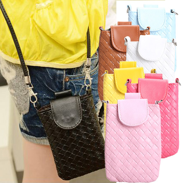 Women's Phone Bag Shoulder Bags Cases Clutch Bag Knitting Bag for iphone 4s/5/5s/MP3/4 LT88