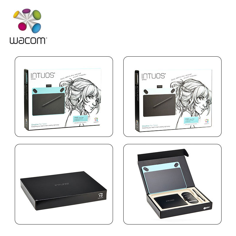 wacom intuos draw ctl 490 digital graphic drawing tablet pad 2048