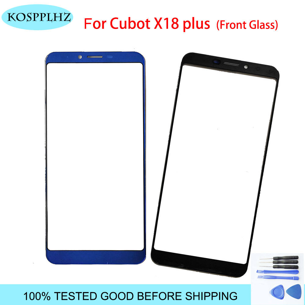 KOSPPLHZ Black 5.99 Inch Front Outer Glass For Cubot X18 PLUS Touch Screen Touch Panel Lens Replacement X18plus X 18 + Tools