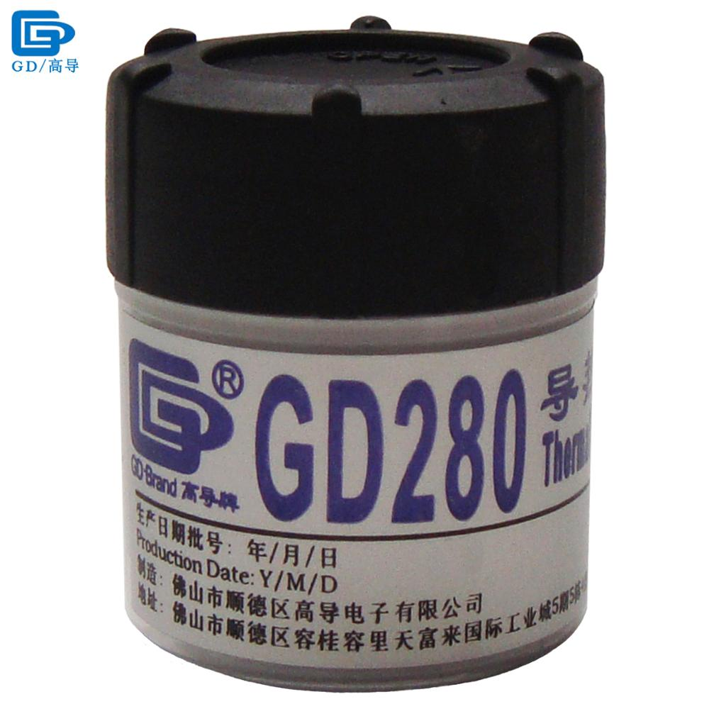 GD280 Thermal Conductive Grease Paste Silicone Plaster Heatsink Compound Net Weight 30 Grams Bottle Packaging White For CPU CN30 thermal conductive grease paste silicone gd900 heatsink high performance compound for cpu cn30 xxm8