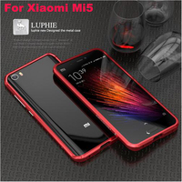 For Xiaomi Mi5 Case Metal Frame Original LUPHIE Luxury Frame Protector Case Back Cover For Xiaomi