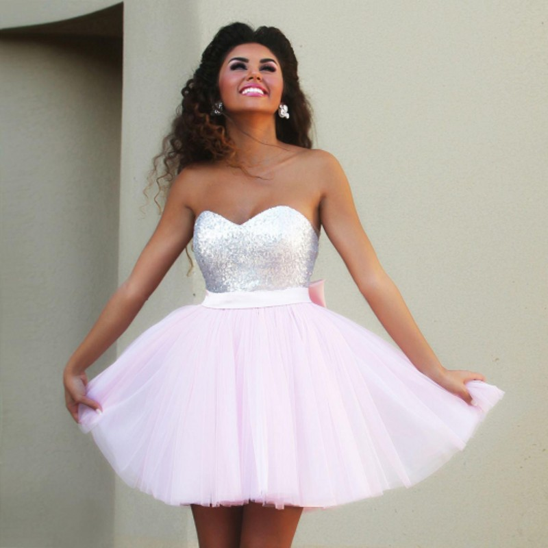 Baby Pink Homecoming Dress Promotion-Shop for Promotional Baby ...