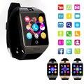 Top smart watch q18s suporte a bluetooth nfc gsm sim cartão tf câmera de vídeo suporte de telefone móvel android xiaomi pk gt08 gv18 u8 DZ09
