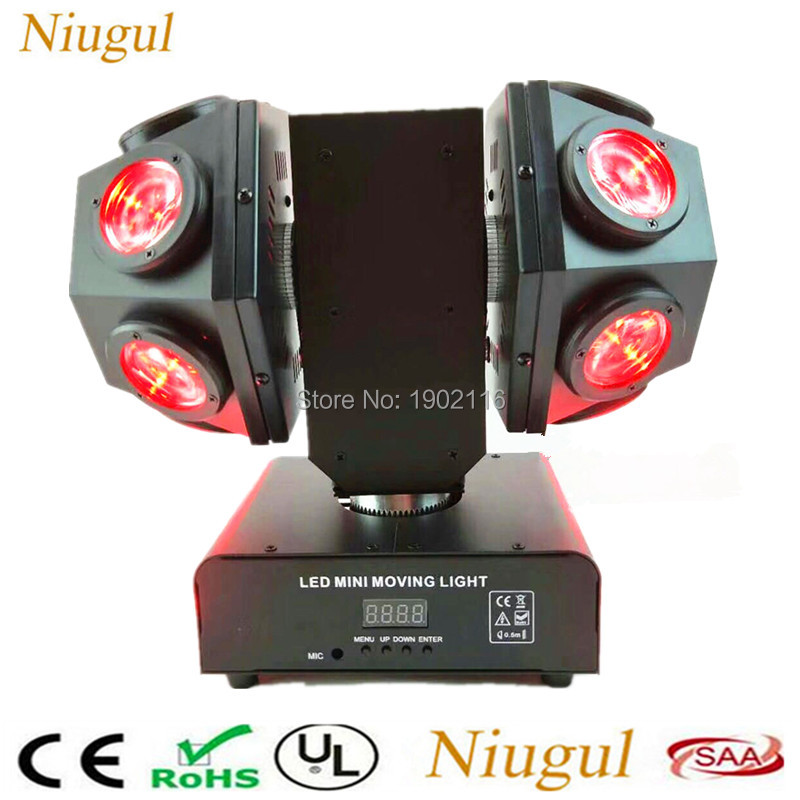 Mini LED 12x10W Doubles Head Moving head Light RGBW 4in1 LED beam Double Arms stage lights DMX512 Disco Club effect DJ lighting