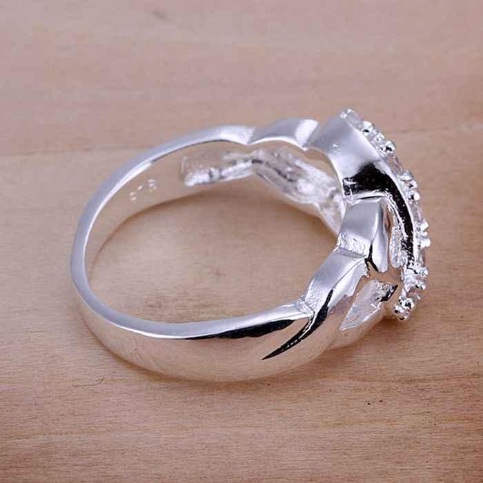 เงิน 925 แหวนแฟชั่นเพทาย 8 Ring แหวนผู้หญิงเงินของขวัญเครื่องประดับนิ้วมือแหวน SMTR049