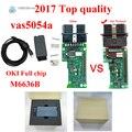 2017 Top Qualidade 3.03 Com OKI VAS5054A Vas 5054 ODIS VW Aud ASSENTO SKODA VAS 5054A chip Full Suporte Bluetooth UDS Protocolo