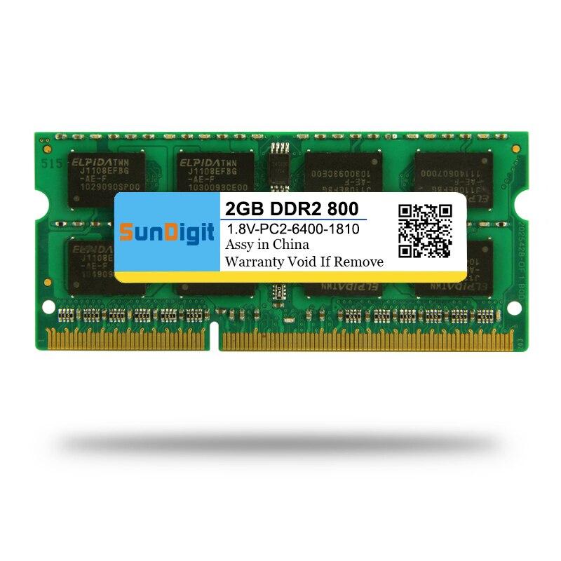 Hohe Qualität SunDigit Laptop-speicher Ram DDR2 800 MHz 667 Mhz 533 Mhz 2 GB 1 GB für Notebook Sodimm Memoria Kompatibel mit DDR 2 2 GB
