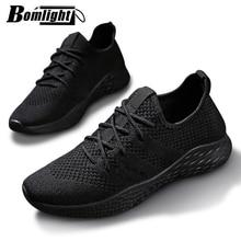 Erkekler Sneakers rahat ayakkabılar marka erkek ayakkabısı erkek örgü daireler artı büyük boy loaferlar nefes kayma bahar sonbahar eğitmenler 48