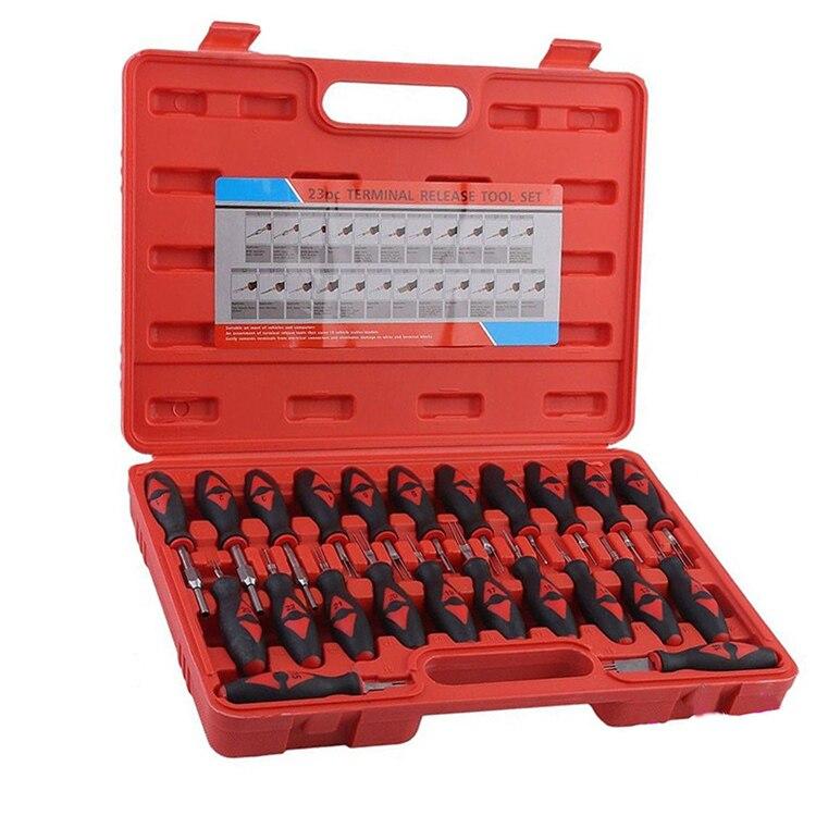 23 шт./компл. автомобиля электрический терминал удаления Tool Kit проводки обжим коннектора Pin для удаления набор инструментов выпуска Extractor Съе...