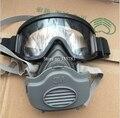 IIIM 3200 máscara de polvo + 20 unids III 3701 filtro de algodón las gafas de seguridad de combinación mascarilla humo anti choque polvo máscara