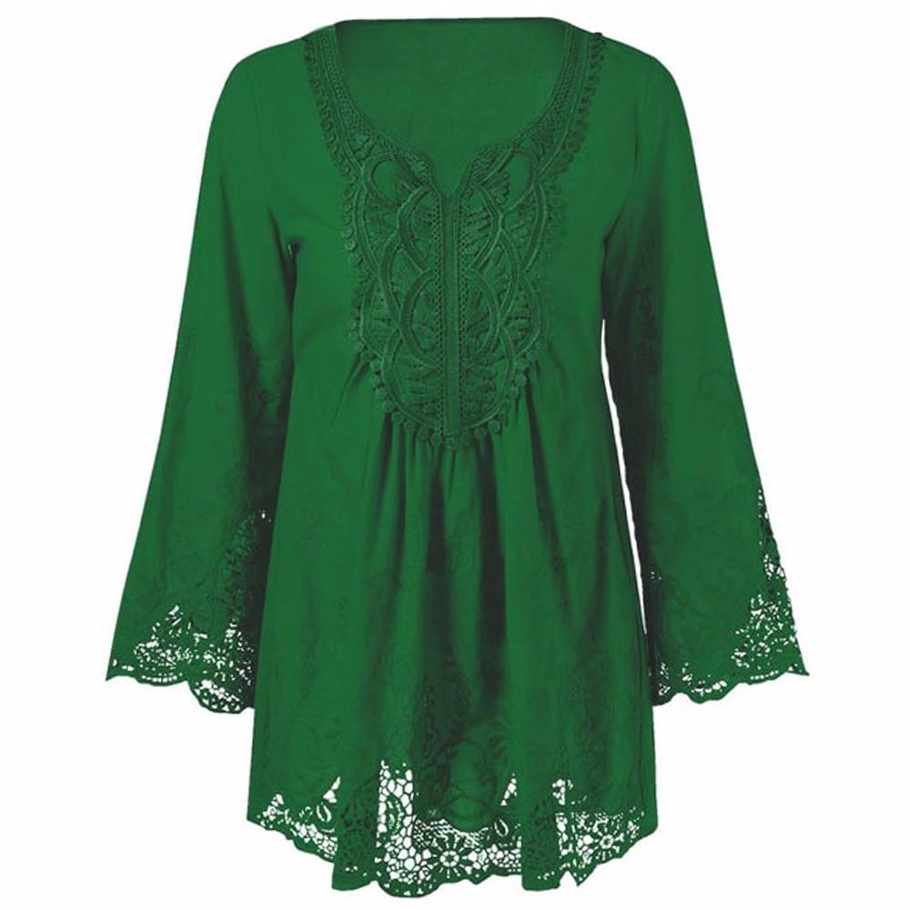 HTB16Bs9OXXXXXc XXXXq6xXFXXXn - Gamiss Plus Size 5XL Female Blusa Retro Spring Autumn Lace Floral