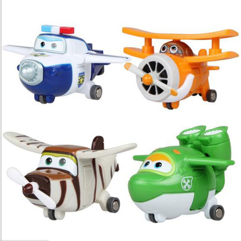 4//8//12Pcs Super Wings Large Robot Transforming to Plane Helicopter Model Toy FR