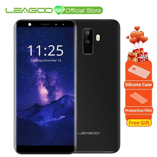"""LEAGOO M9 5,5 """"18:9 полный Экран четыре-камеры Android 7,0 mt6580a четыре ядра 2 ГБ Оперативная память 16 ГБ Встроенная память 8.0MP отпечатков пальцев 3G wcdma мобильного телефона"""