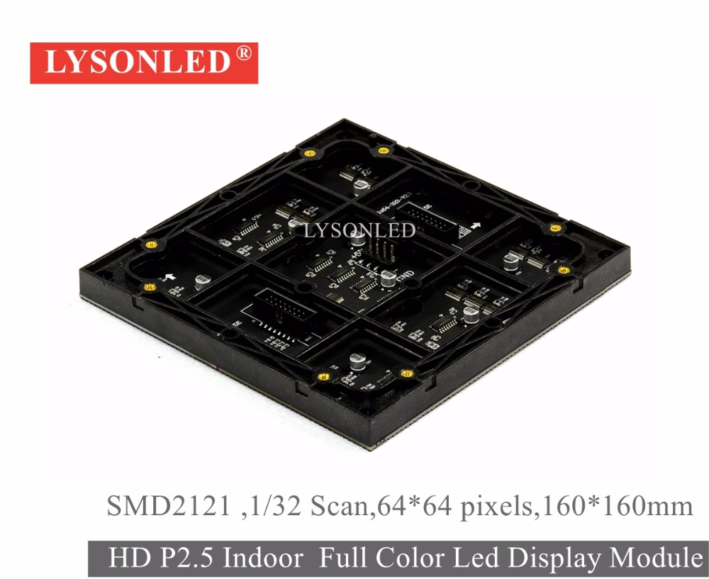 Bulk Order Price 30pcs/lot P2.5 Indoor SMD2121 Full Color Led Display Module 64x64 Pixels, 160x160mm HD Indoor P2.5 LED Panel